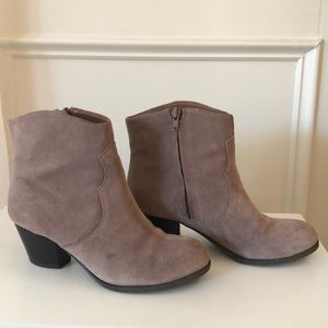 Gray Lucky Brand Ankle Boots